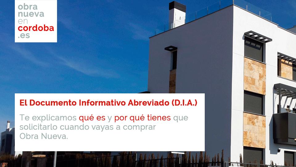 Documento Informativo Abreviado en Obra Nueva en Córdoba