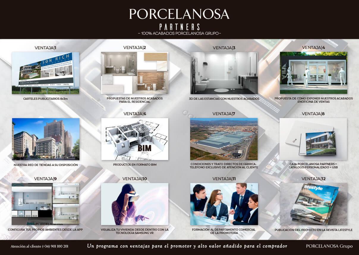 Porcelanosa Grupo Programa Partners 12 ventajas