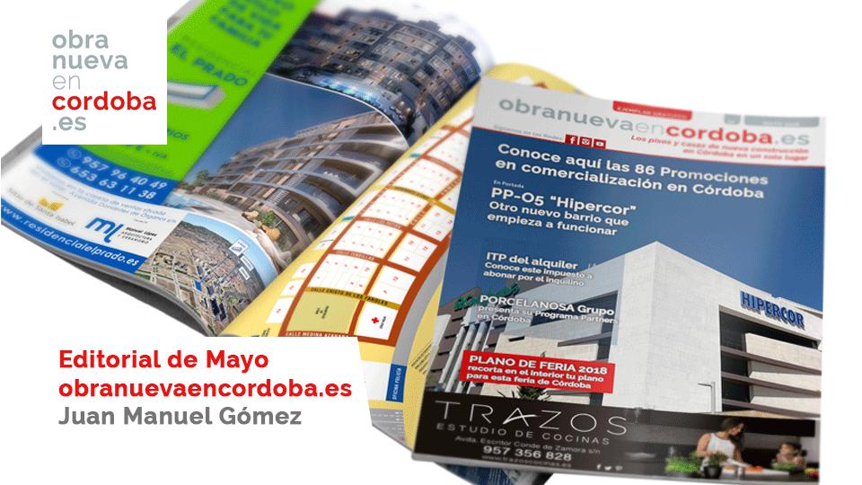 revista obranuevaencordoba.es editorial mayo 2018