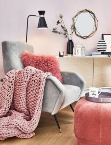 Tendencias decoración e interiorismo. Living Coral - obra nueva en cordoba