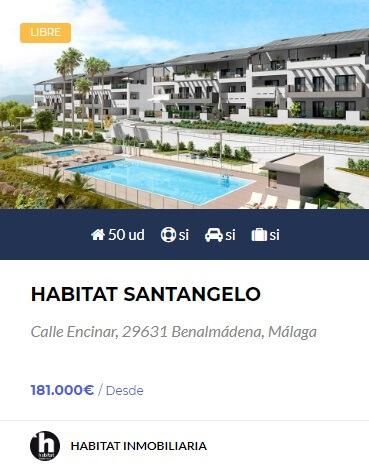 Habitat Santangelo obra nueva en benalmádena