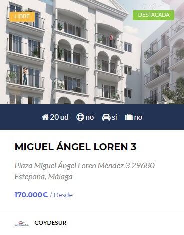 Miguel ángel Loren 3 obra nueva en estepona