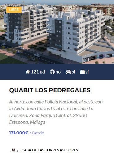 Quabit Los Pedregales obra nueva en estepona