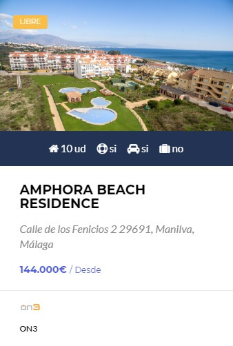 Amphora Beach Residence - obra nueva en Córdoba