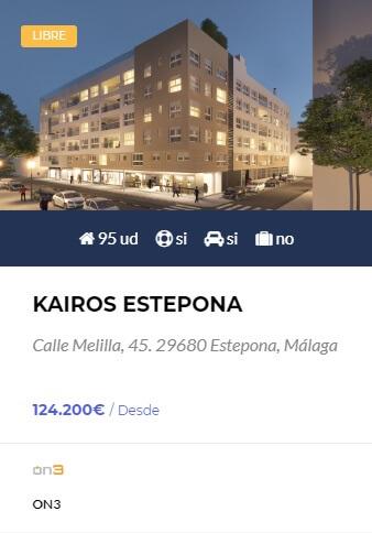 Kairos Estepona - obra nueva en Córdoba