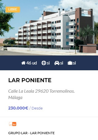 Lar Poniente - obra nueva en Córdoba