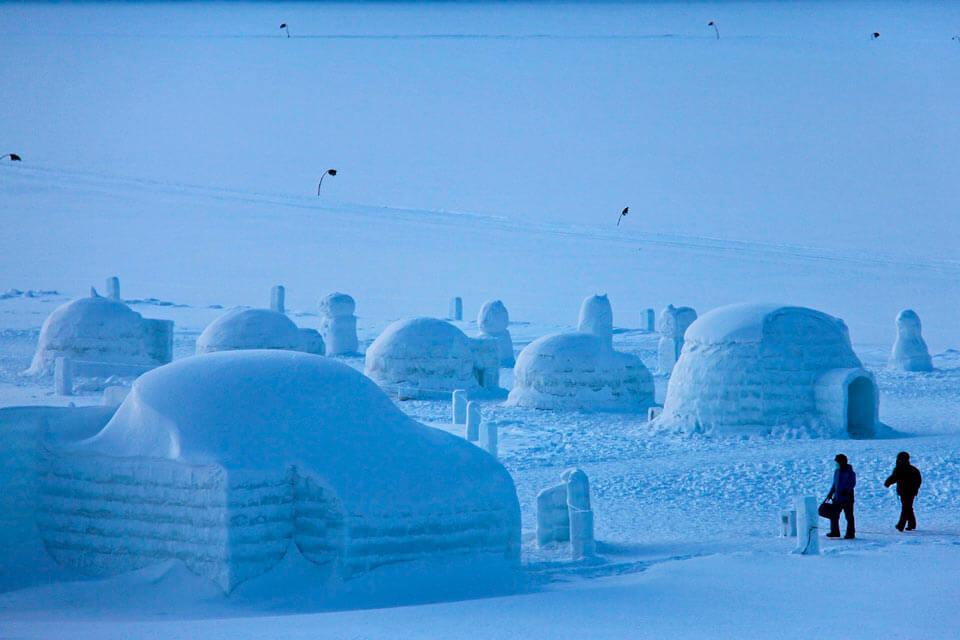 arquitectura en hielo el iglú