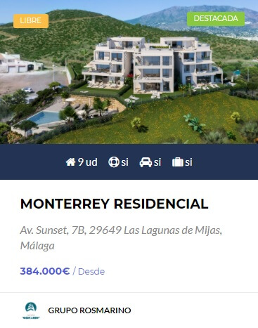 Monterrey - obra nueva en Malaga