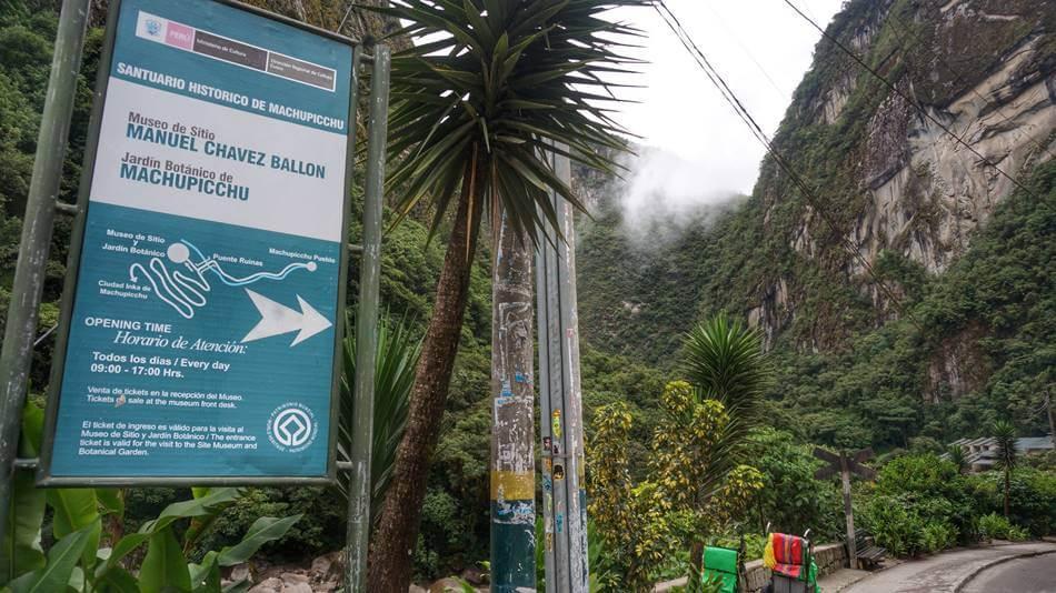 jardín botánico del machu picchu