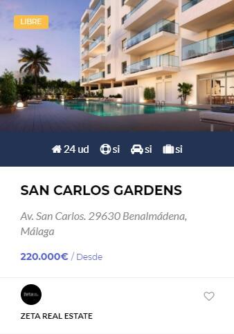 San Carlos Gardens - obranuevaenmalaga